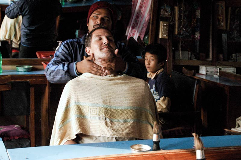 Going for a shave in Kathmandu