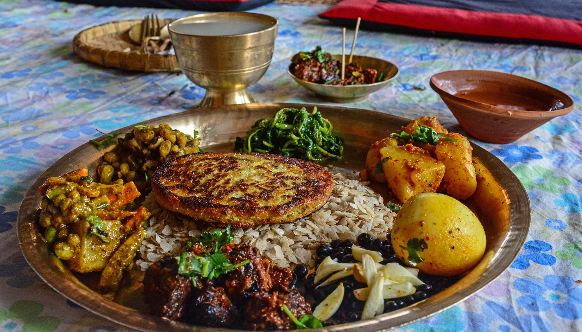 Chyola, one of the popular Newari foods. Photo: Sudeep Singh