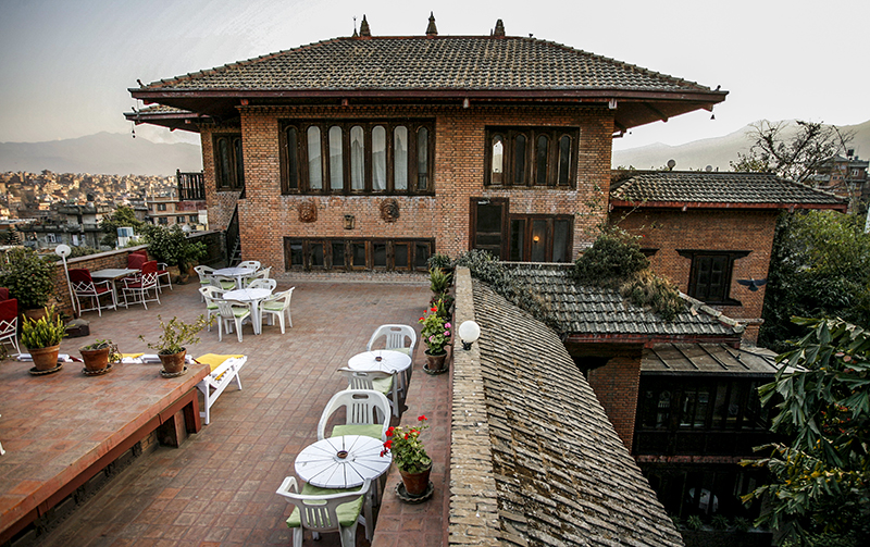 East meets West at the Hotel Vajra