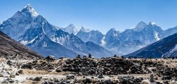 Himalayan range, Everest region. Photo: Tashi Sherpa
