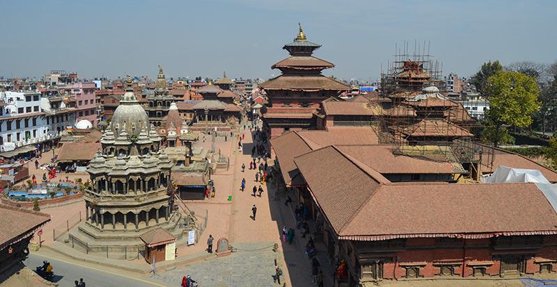 Patan Durbar Square post Earthquake. Photo: Sudeep Singh