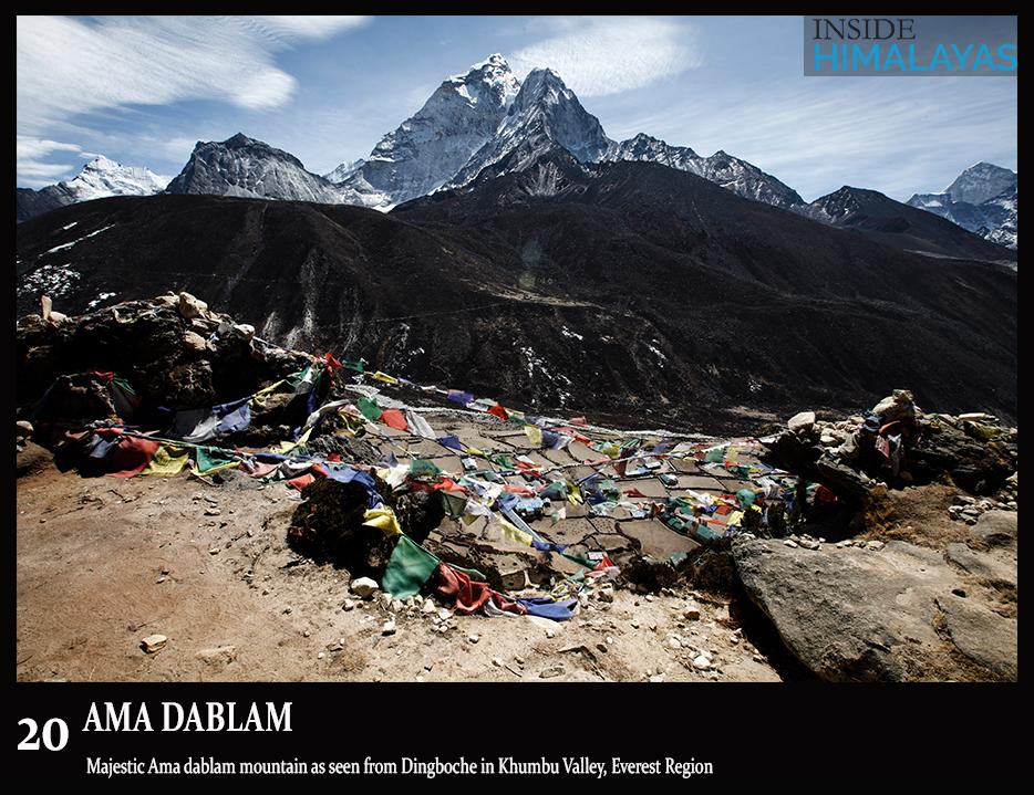 everest region, ama dablam mountain
