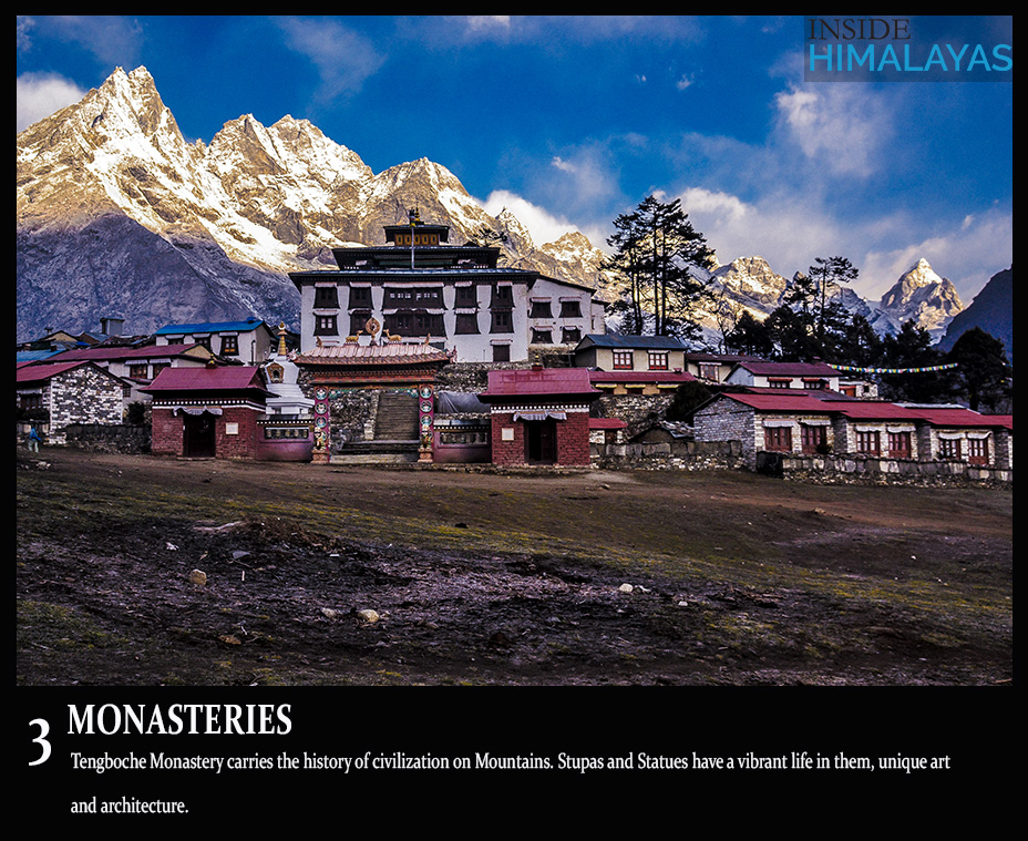 3 monasteries