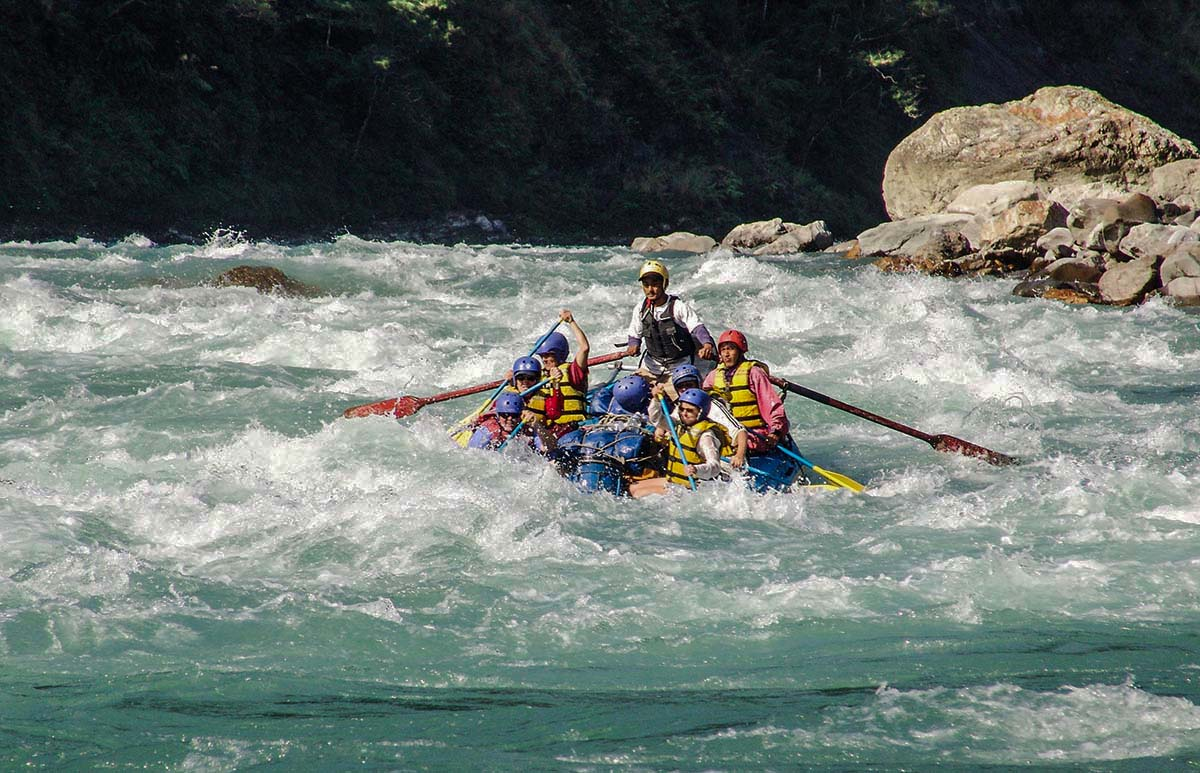 Rafting in Trisuli River.