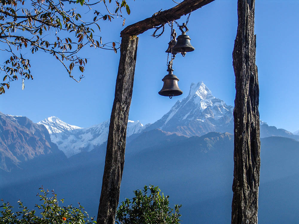 A sublime sight of Mt. Fishtail from Pokhara.