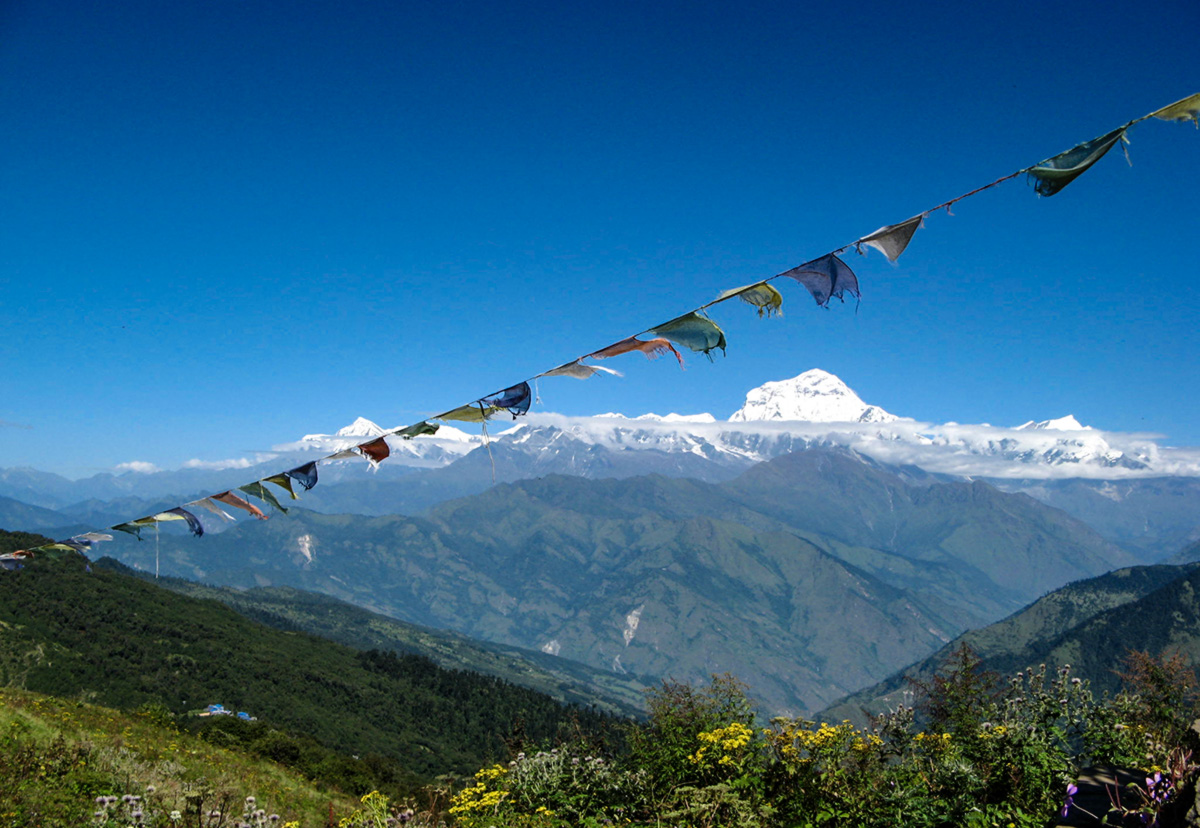 Yoga and a Monk on the Poon Hill Trek