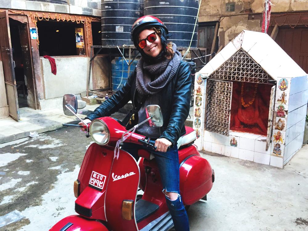 Touring Kathmandu on the Back of a Vespa