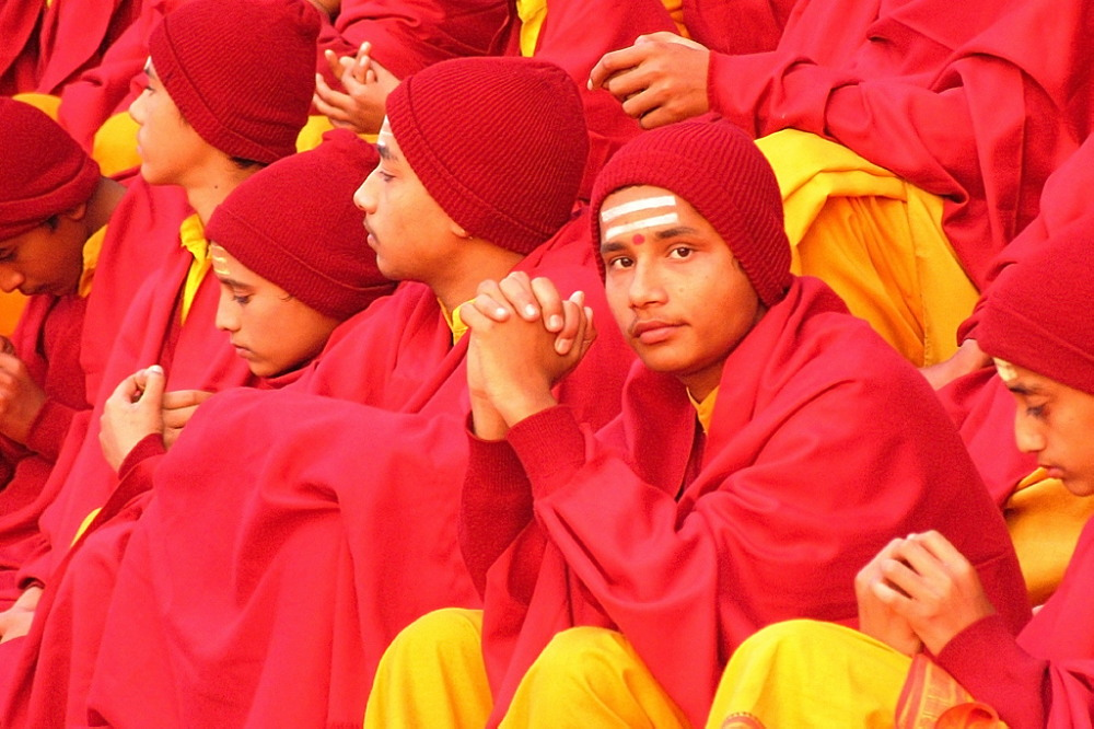 Hindu boys in Rishikesh, Uttarakhand, India. Photo: Mare