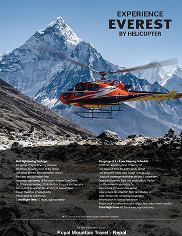 Experience Everest By Helicopter