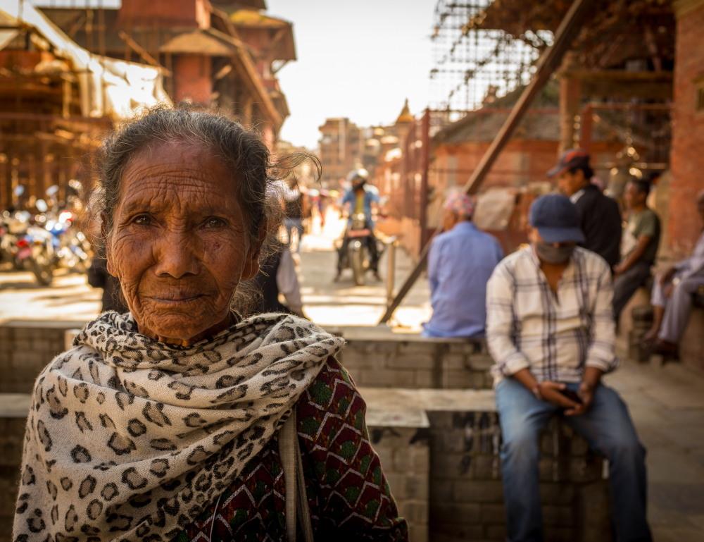 A jewellery seller at Patan Durbar Square. Photo: Sue Hankins