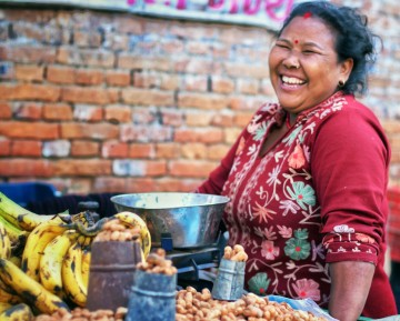 Portrait of a Nepali: A Fruit Seller in Bhaktapur
