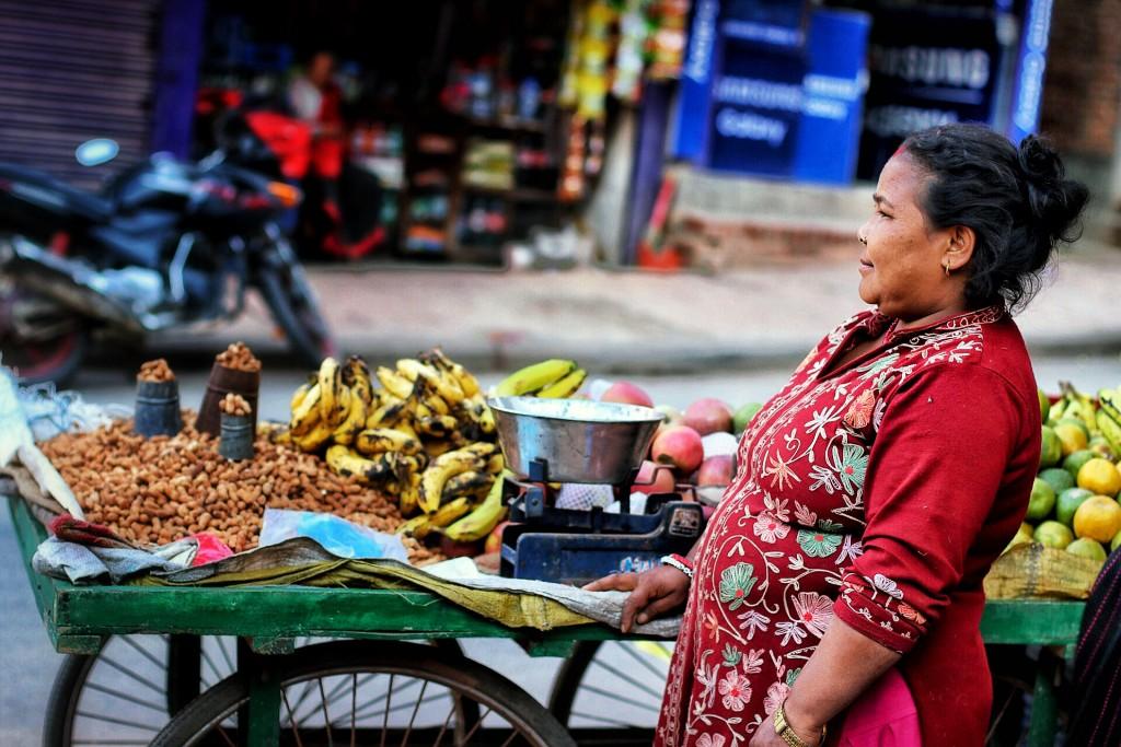 Portrait of a Nepali: A Fruit Seller in Bhaktapur