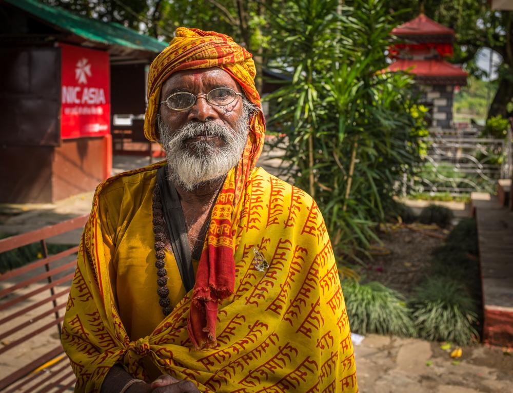 Sadhu at Varahi Mandir, Phewa Tal, Pokhara. Photo: Sue Hankins