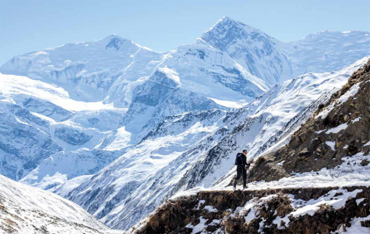 A highlight of winter trekking is having the trails to yourself. Photo: Tashi Sherpa