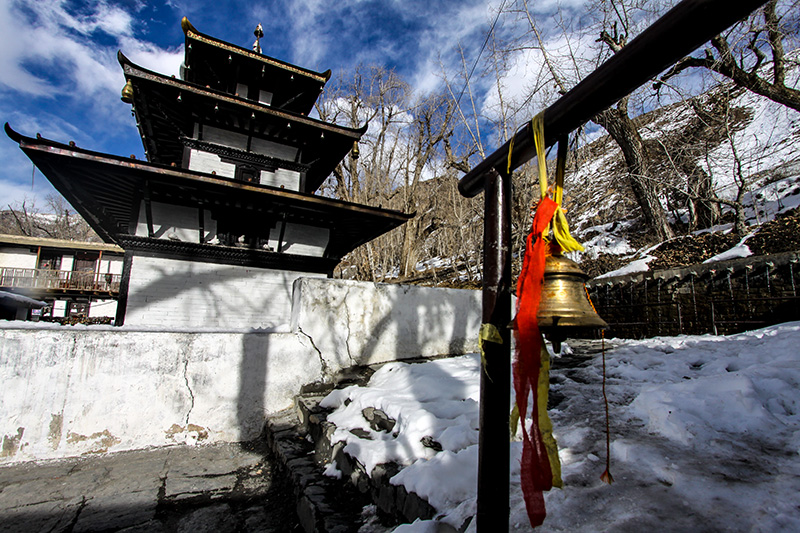 Muktinath temple is a year -round pilgrimage site. Photo: Tashi Sherpa