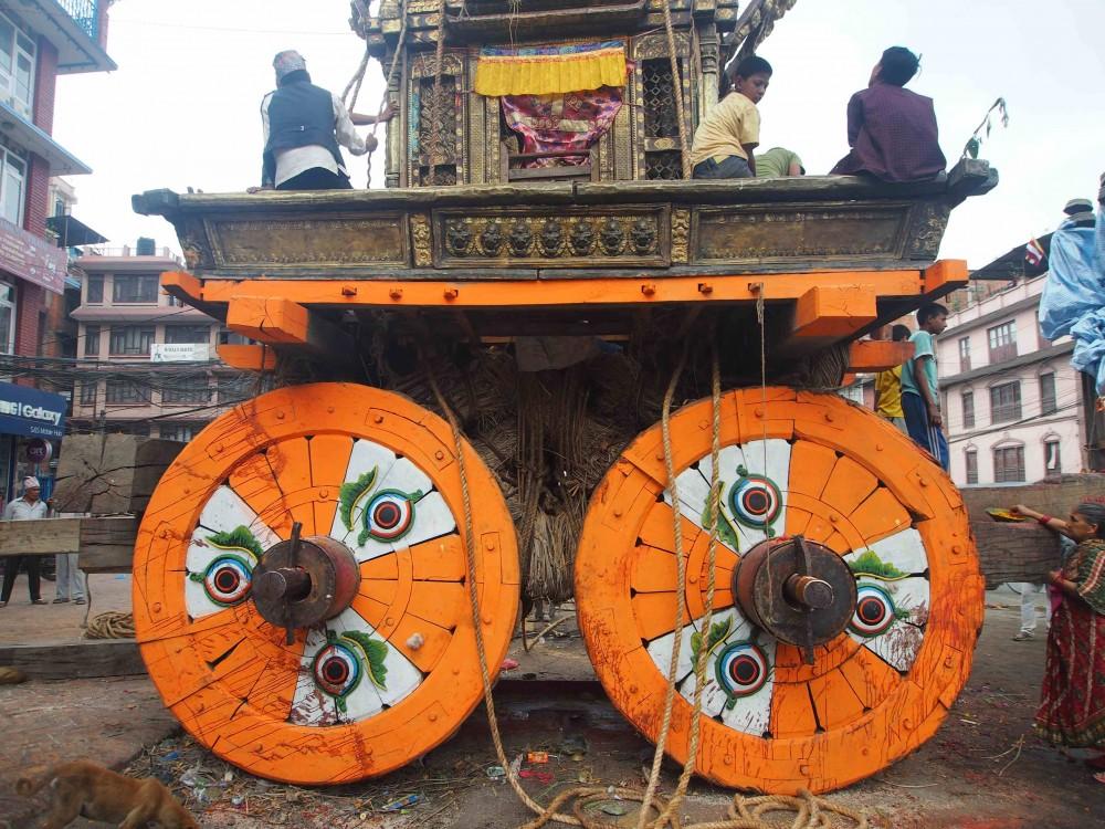 The Rato Matsyendranath chariot. Photo: Elen Turner