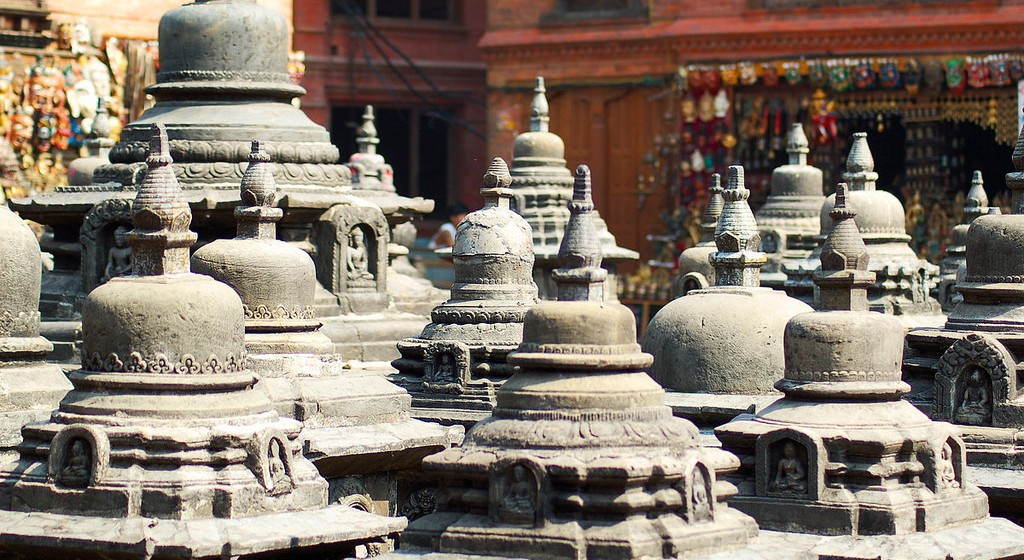 Chortens at Swayambhunath. Photo credit: chripell / Flickr