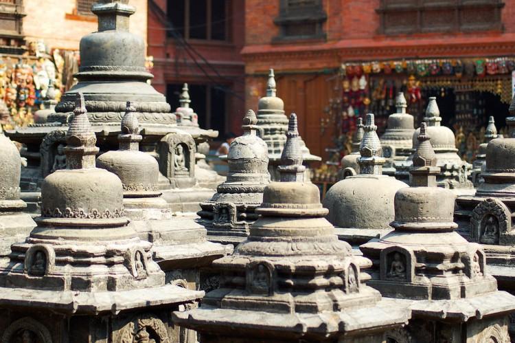 Chortens at Swayambhunath. Photo credit: chripell / Flickr