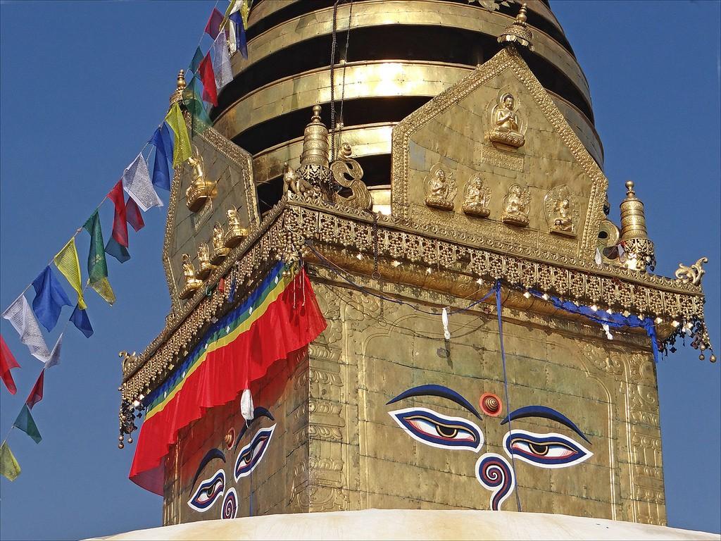 Swayambhunath Stupa. Photo credit: Jean-Pierre Dalbera / Flickr