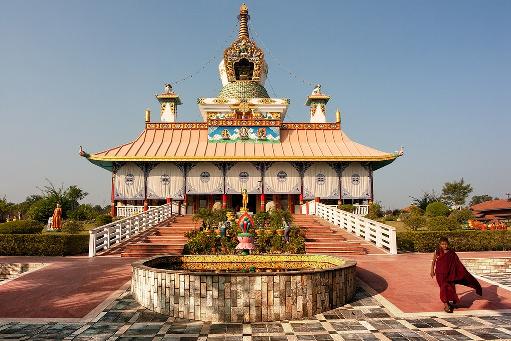 The German Buddhist Temple at Lumbini. Photo credit: Jakub Michankow / Flickr