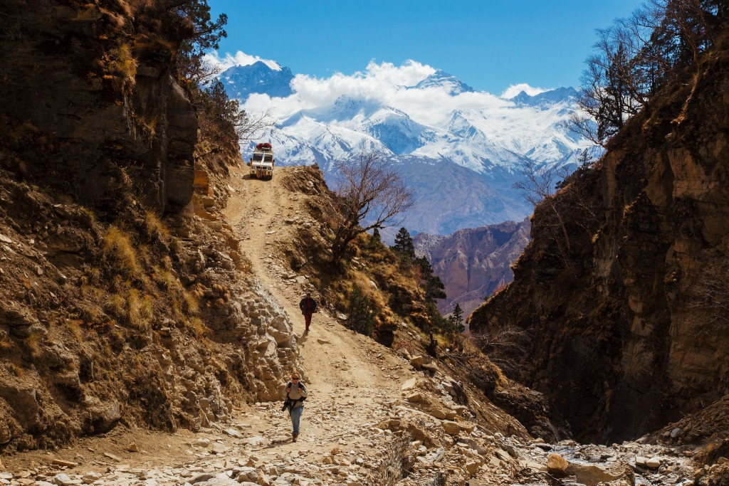 On the jeep trail between Lo Manthang and Jomsom. Photo: Jean-Marie Hullot/Flickr