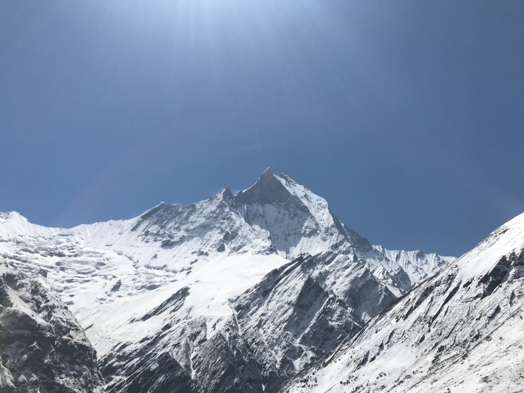 Machhapuchhre, as seen from the trail. Photo by the author