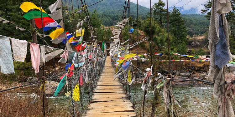Bumthang chain bridge. Photo by Abbie Synan