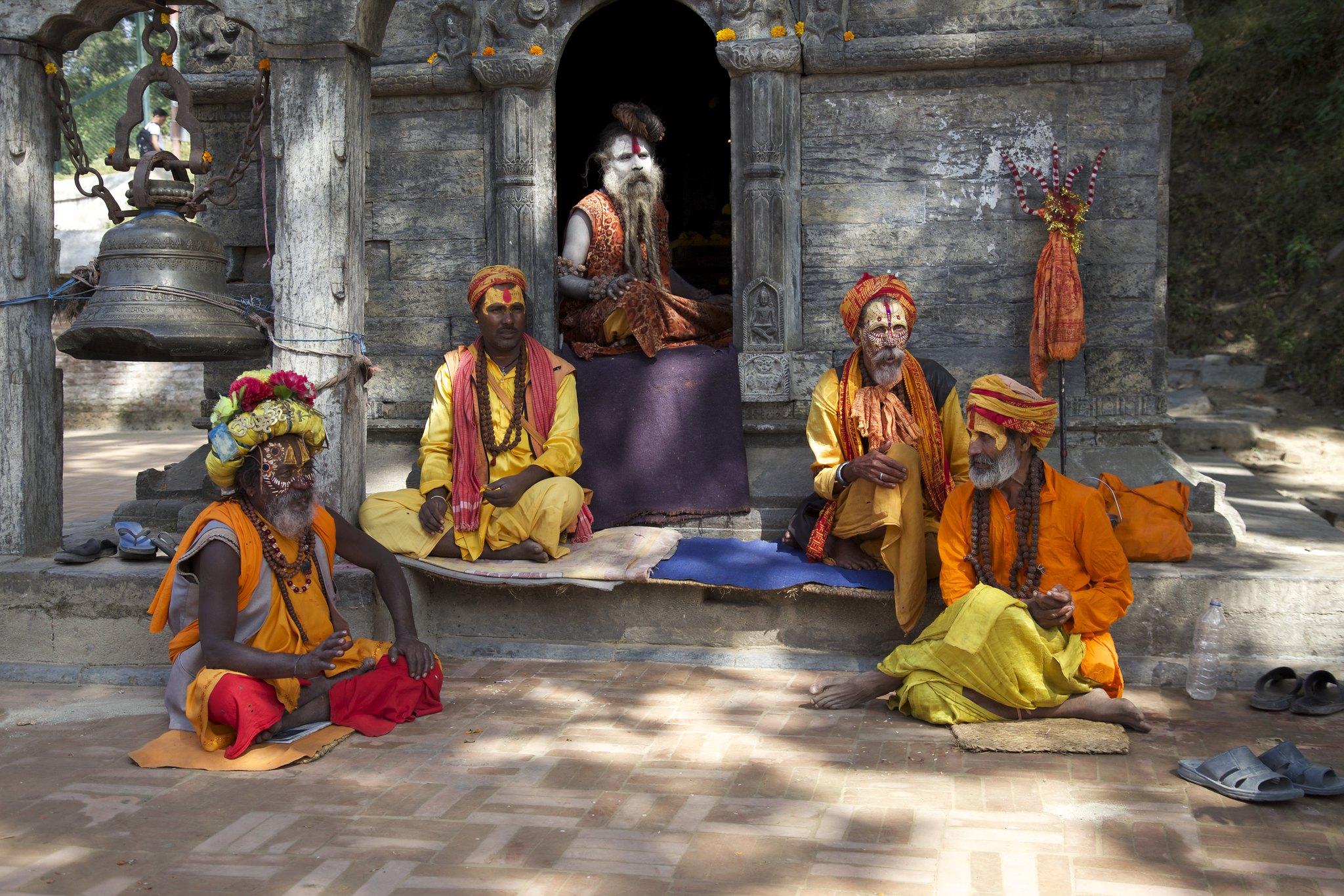 Hindu sadhus at Pashupatinath in Kathmandu. Photo: Jean-Marie Hullot/Flickr