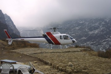 The Easy Route to Tengboche... by Helicopter