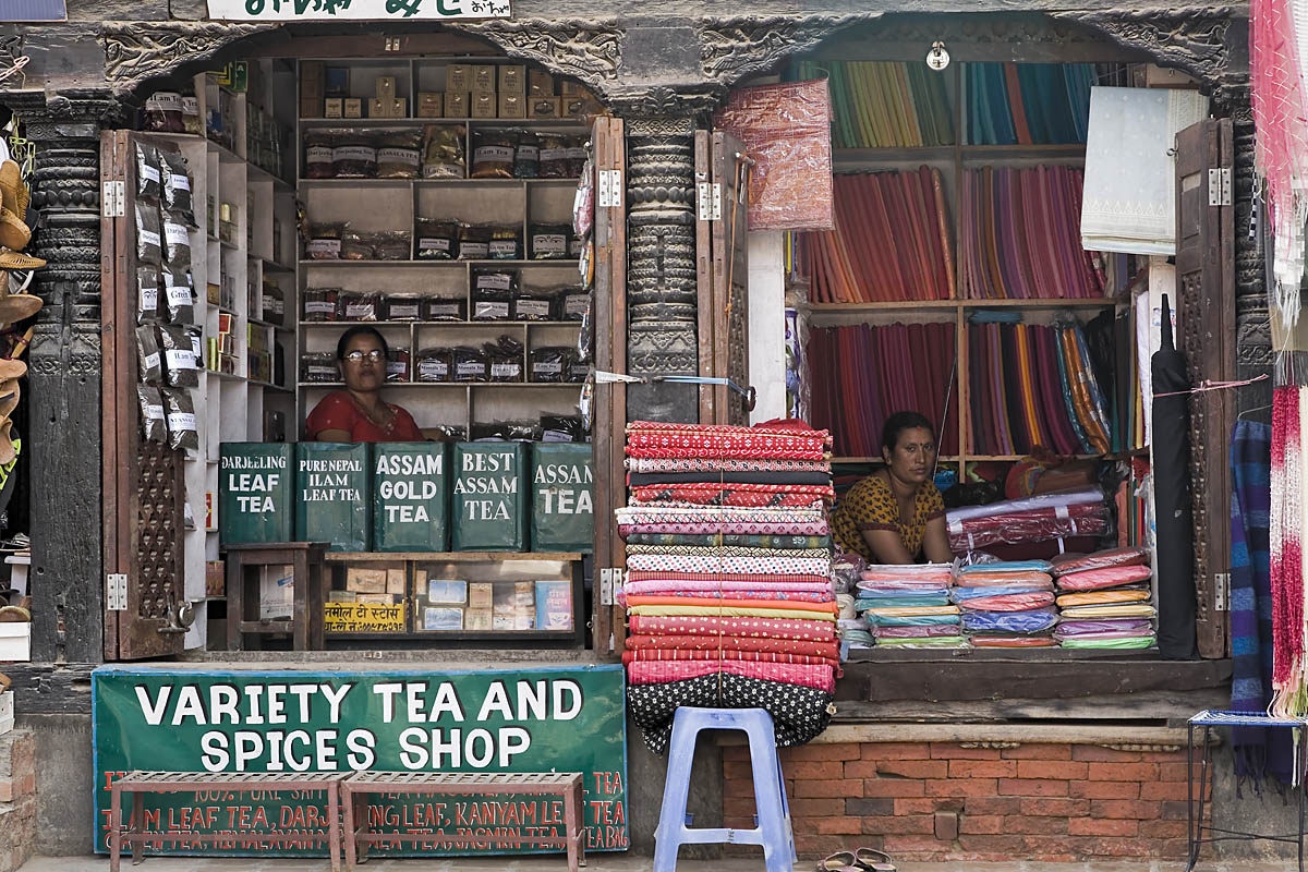 Shops in Patan Durbar Square. Photo: waterwin/Flickr