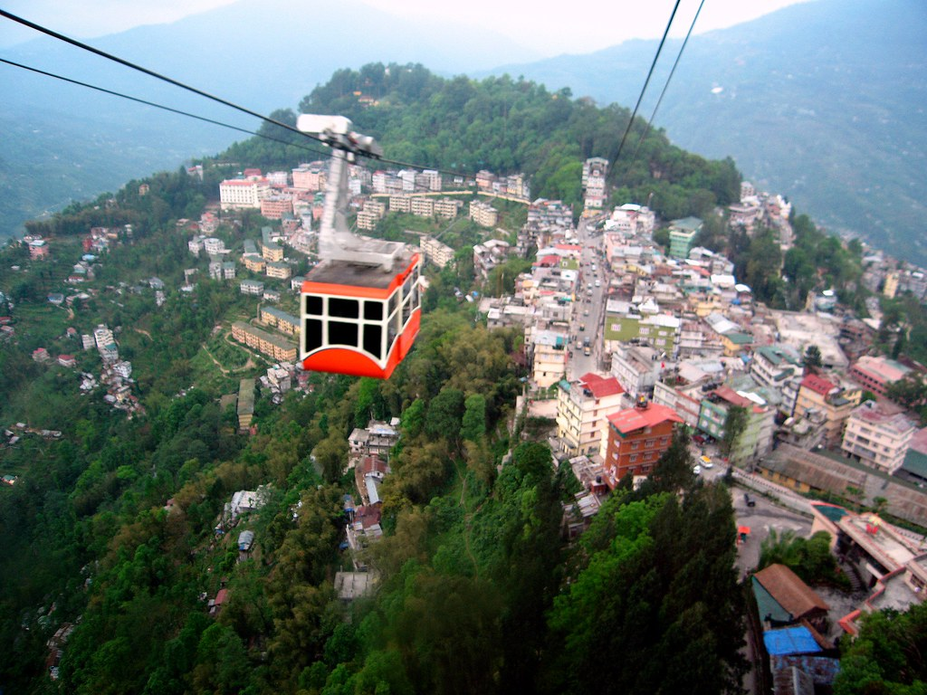 Gangtok's cable car is a must-do attraction. Photo: Kalyan Neelamraju/Flickr