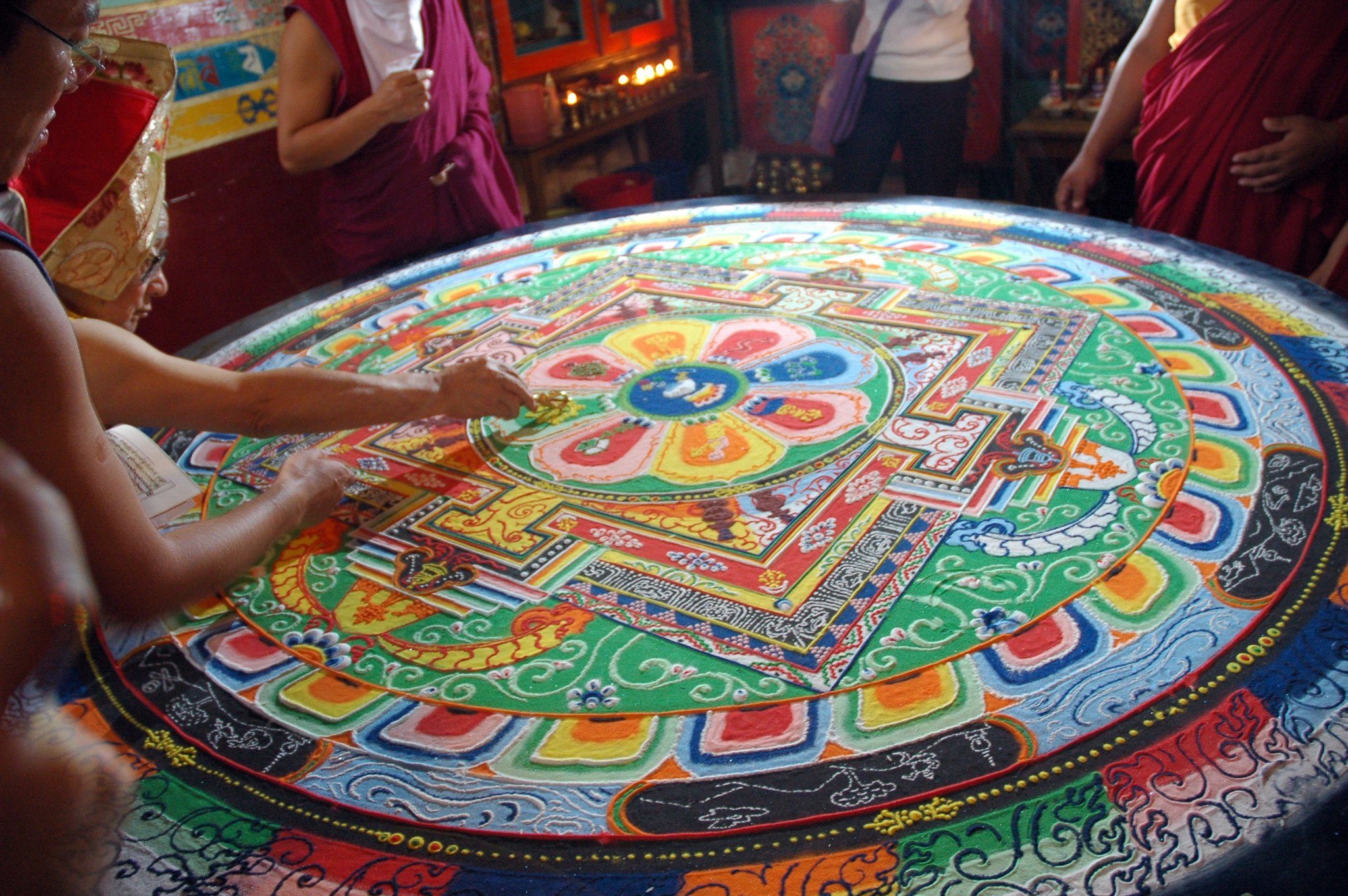 A Buddhist sand mandala. Photo: Wonderlane/Flickr