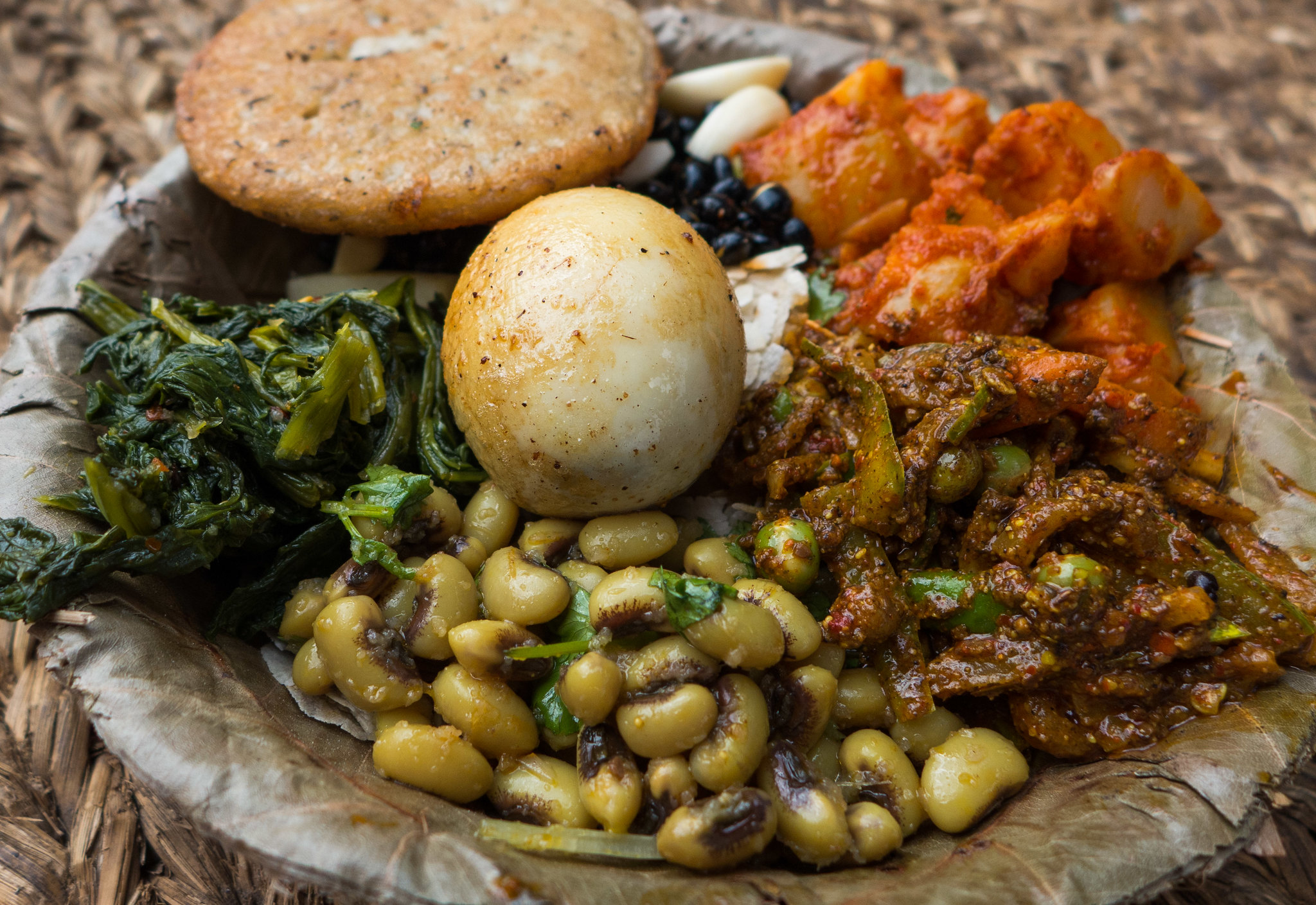 A traditional Newari meal. Photo: Sharada Prasad CS/Flickr