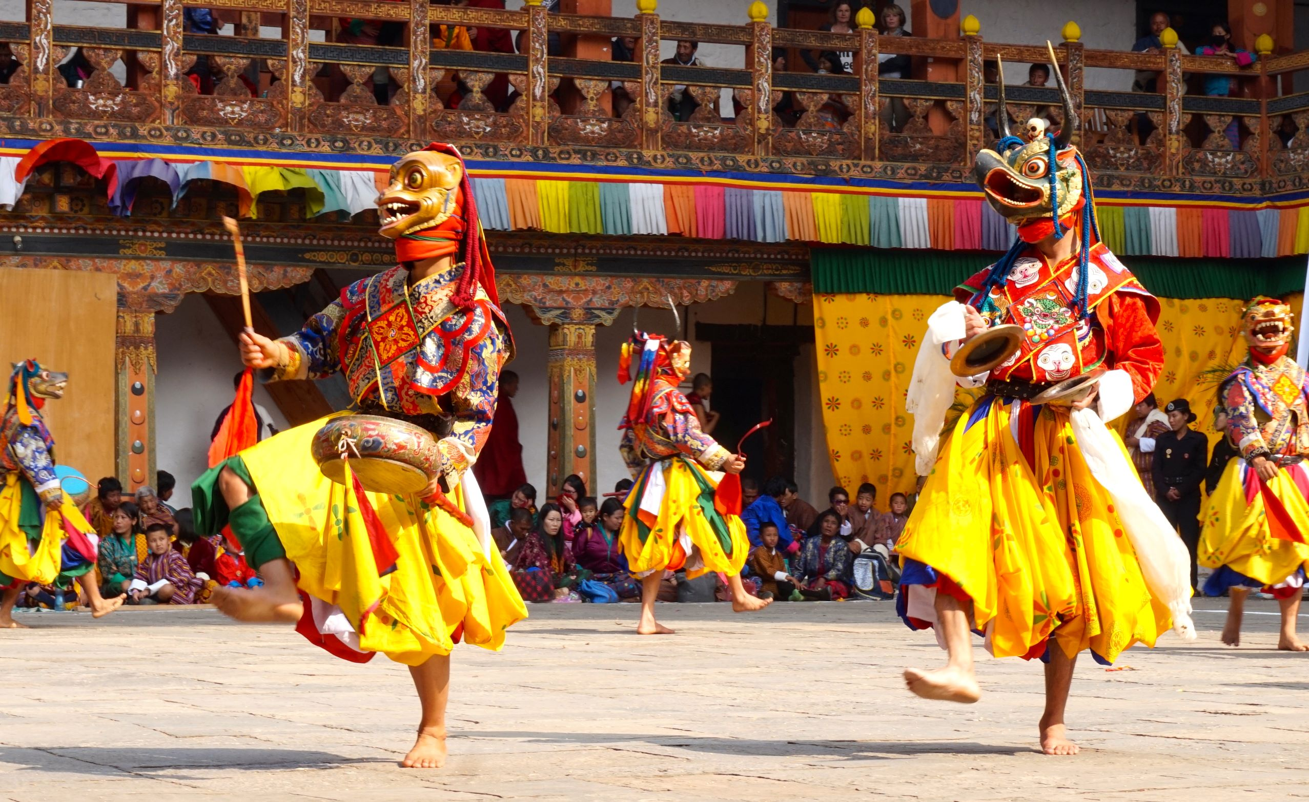 Monks Steal the Show at Bhutan's Punakha Festival