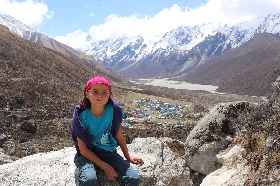 Wandern mit Kind im Langtang Tal
