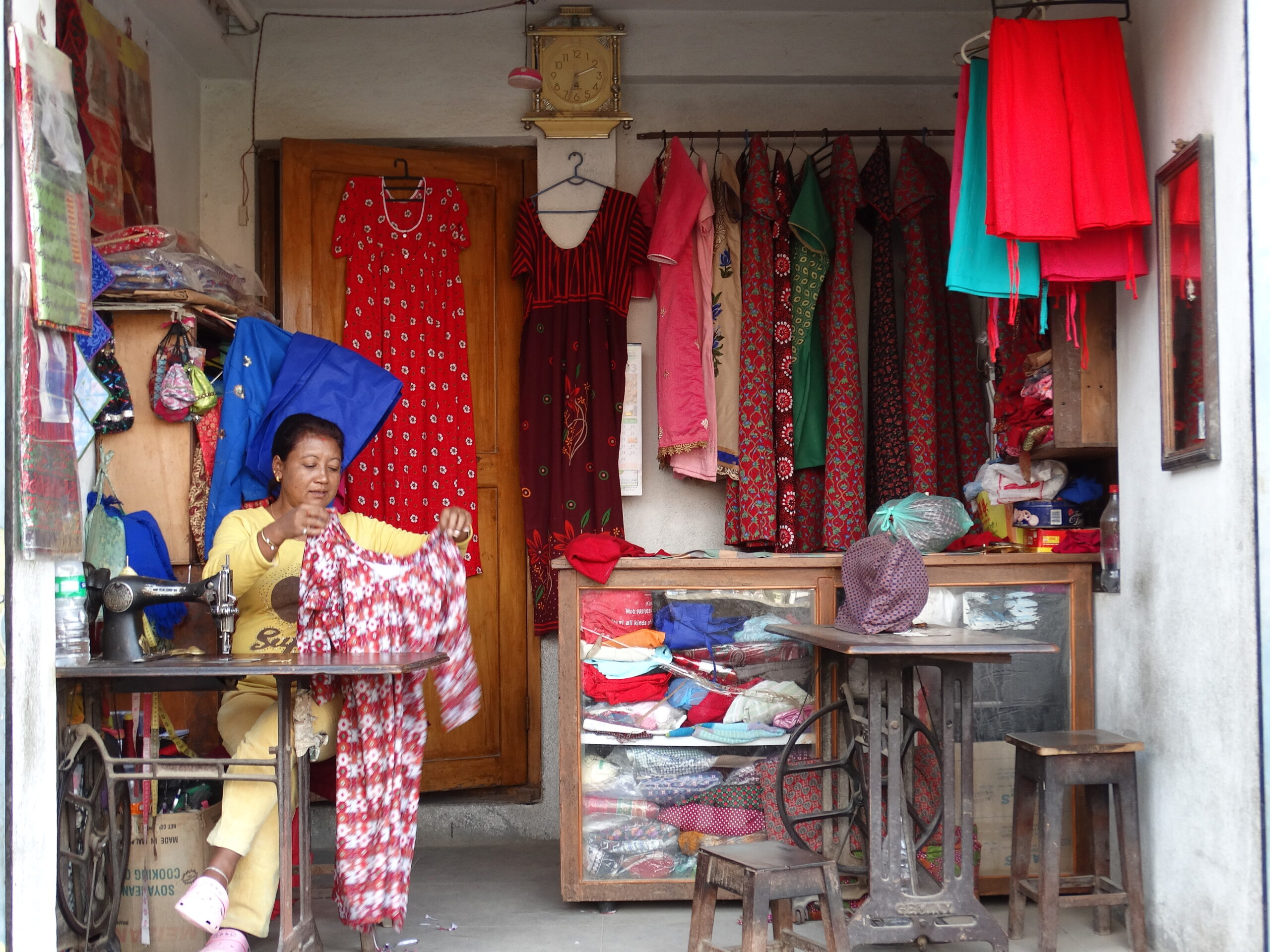 Visiting a Dressmaker in Patan
